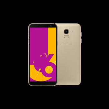 """Samsung Galaxy J6 5.6"""" HD+ Super AMOLED SmartPhone (2018) - 32gb, 3gb, 13mp, 3000mAh, Gold"""