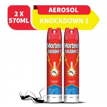 Mortein Knockdown I Aerosal 570ml x2 (Value Pack)