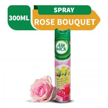 Air Wick Freshener Aerosol 4 in 1 Rose Bouquet 300ml