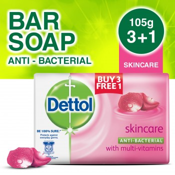 Dettol Body Soap Skincare 105g 3+1 (free)
