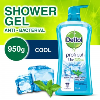 Dettol Anti-Bacterial Shower Gel Cool 950ml