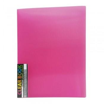 CBE 11440 Neon Clolour Clear Holder - A4 (40pockets) Pink