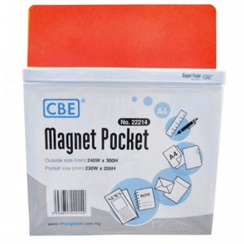 CBE Magnet Pocket 22214 A4 - Red (Item No: B10-185R) A1R3B130
