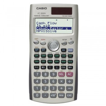 Casio Financial Models Calculator - 10 + 2 Digits, Key rollover (FC-200V)