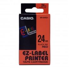Casio Ez-Label Tape Cartridge - 24mm, Black on Red (XR-24RD1)
