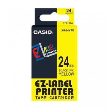 Casio Ez-Label Tape Cartridge - 24mm, Black on Yellow (XR-24YW1)