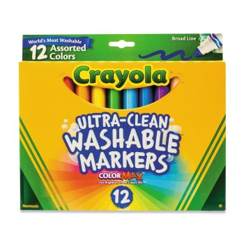 Crayola 12ct Broad Line Classic Washable Markers - 587812