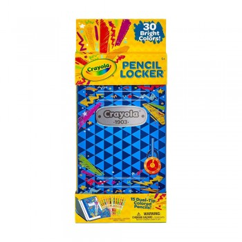 Crayola 15ct Dual Tip Color Pencil Locker - 046841