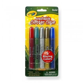 Crayola 5ct Washable Glitter Glue - 693522