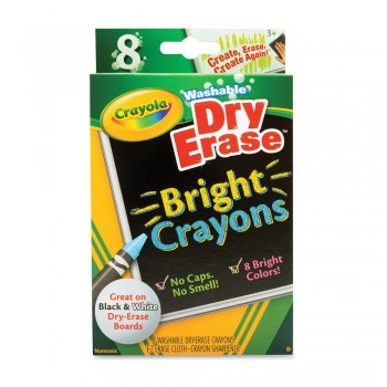Crayola 8ct Washable Dry Erase Bright - 985202