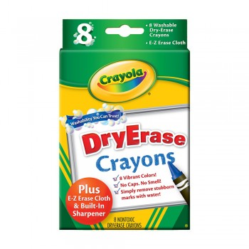Crayola 8ct Washable Dry Erase Crayons - 985200