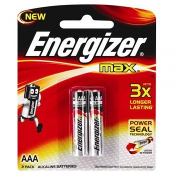 Energizer MAX AAA Alkaline Batteries - 2psc pack (Item No: B06-07) A1R2B220 [220092752]