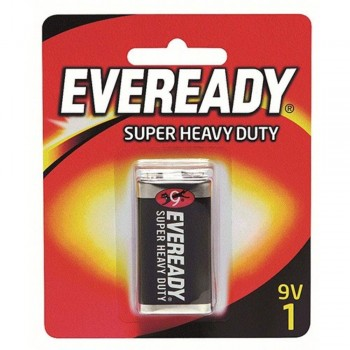 EVEREADY Super Heavy Duty 9V Carbon Zinc Batteries - 9V Size - 1pc (Item No: B06-15) A1R2B228