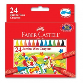 Faber Castell Jumbo Wax Crayons 122524 - 24pcs (Item No: A02-27) A1R1B157