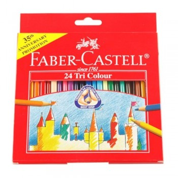 Faber Castell Tri-Grip Colour Pencil-24L (Item No: B05-10) A1R2B138