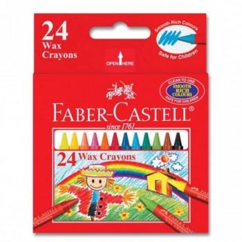 Faber Castell Wax Crayons 122424 - 24pcs (Item No: A02-24) A1R1B154