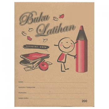 Flying Wheel 200 Kraft Cover Exercise Book — Buku Latihan 200pgs (Item No:C02-41) A1R4B138