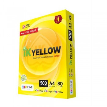 IK YELLOW Paper A4 - 80GSM 500 sheets