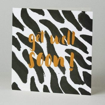 Letterpress Card - Black Ink - Get Well Soon
