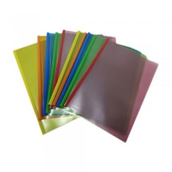 A4 Slide Bar Document Holder 10set/packet - Mix Color