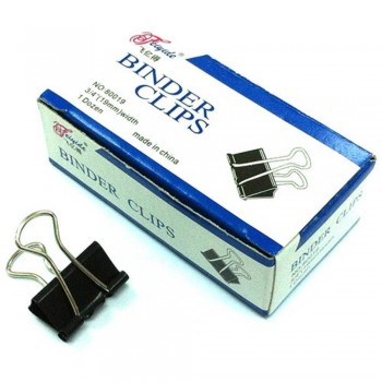 Binder Clips - 19mm, 1 dozen / box