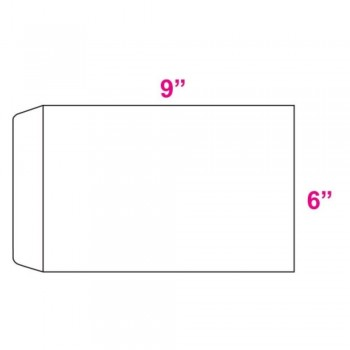 White Envelope - 100gsm - 500 pcs 6-inch x 9-inch (Item No: C03-08)
