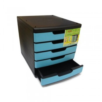 Niso 5 Tier Letter Tray Blue (8822)