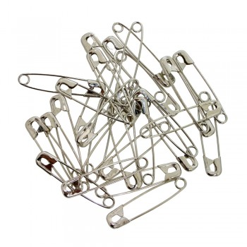 Safety Pins (1440pcs/Box) Silver