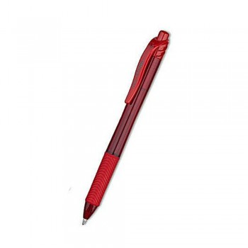 Pentel Energel Retractable Gel Rollerball Pen 1.0mm Red BL110-B
