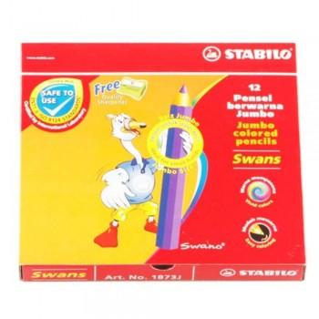 Stabilo 1873J Jumbo Colour Pencil-12S (Item No: B05-28) A1R2B156