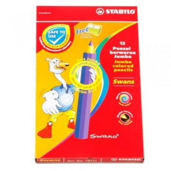 Stabilo 1877J Jumbo Colour Pencil-12L  (Item No: B05-30) A1R2B158