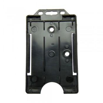 Plastic ID Card Holder (Black)