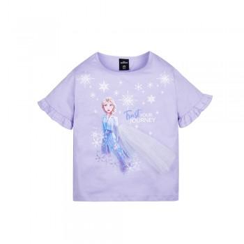 Frozen 2 Series Elsa Snowflake Kids Tee - (Purple, Size 140)