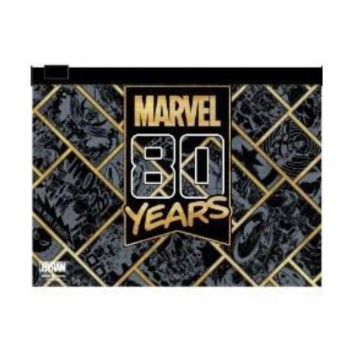 Marvel 80years PVC Zipper Bag Series (Black and Gold)