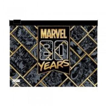 Marvel 80years PVC Zipper Bag Series (Black and Gold)