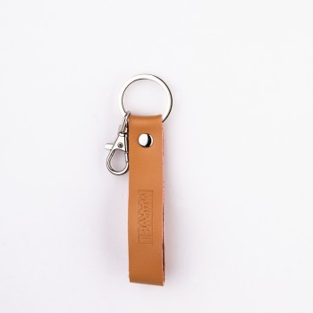 Avengers Series Leather Keychain (Light Brown)