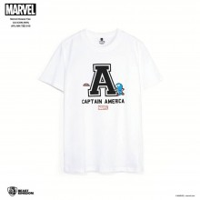 Marvel Kawaii Tee Captain America Icon - White