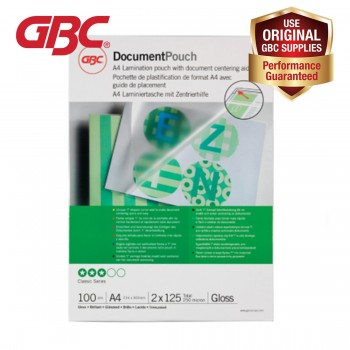 GBC Laminating Pouch - 125 Micron, 216 x 303mm Gloss, A4, 100pcs