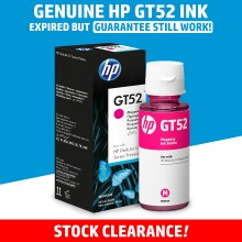 [100% GENUINE] HP GT52 Magenta Original Ink Bottle - Original HP Ink M0H55AA Ink Tank Bottle (8000 Pages)