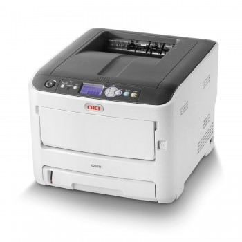 OKI C612dn A4 Color Printer C600 Series Duplex, Network LED Printer - 46406018 + 44274303