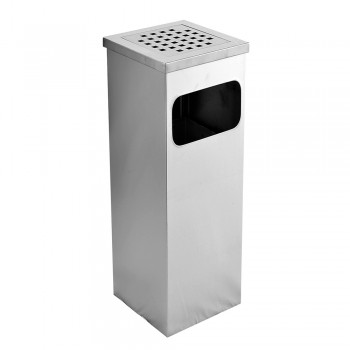 Stainless Steel Square Ashtray Dustbin - 008/SS